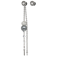 Boucle d'oreille swap glassy&pearly