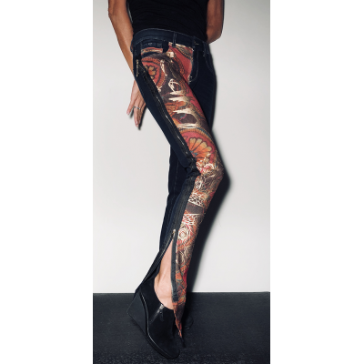 Jeans ethnic-chic - taille 31- VENDU